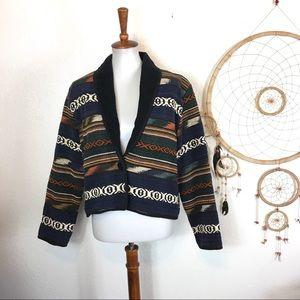 Shaver Lake Vintage 90s Navajo Woven Jacket